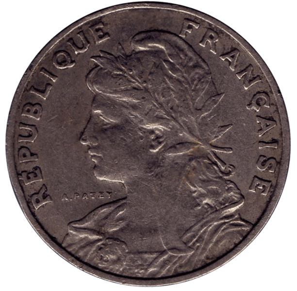 25 centimes patey, type 1