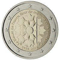 2 euros commémorative France 2018