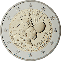 2 euros commémorative France 2019