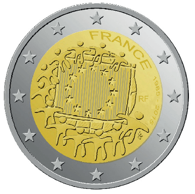2 euros commémorative France 2015