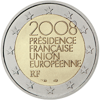 2 euros commémorative France 2008