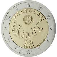 2 euros commémorative Portugal 2014
