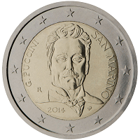 2 euros commémorative Saint-Marin 2014